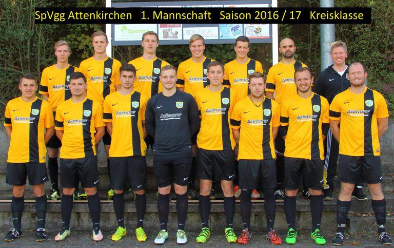 Erste Mannschaft Männer Spvgg Attenkirchen